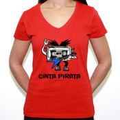 Cinta Pirata Kiss - Camiseta de pico Fruit of the Loom